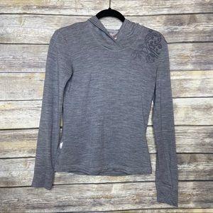 Icebreaker Women's S 100% Merino wool gray hoodie
